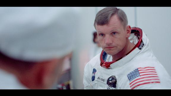Neil Armstrong, the first human to walk on the moon.