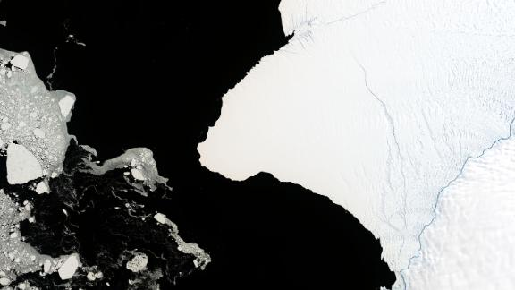 Antarctica's Brunt Ice Shelf pictured by NASA in January 2019.