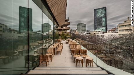 Terrace in Tokyo Cathedral.