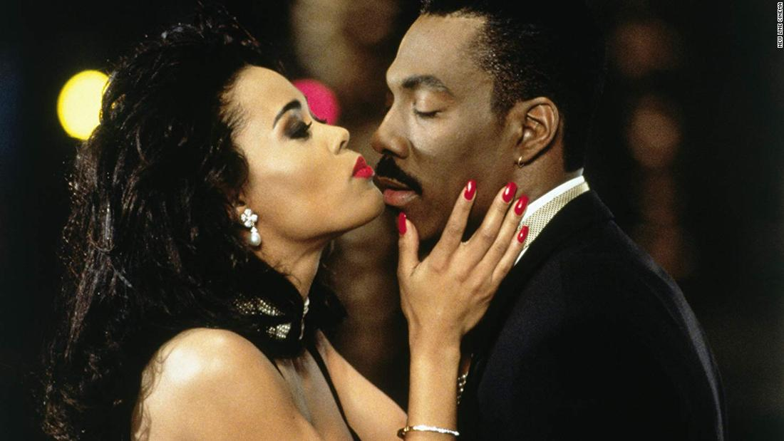 """""""Boomerang"""": Robin Givens and Eddie Murphy star in this film about an advertising executive and womanizer who has the tables turned on him. (Amazon Prime, Hulu"""