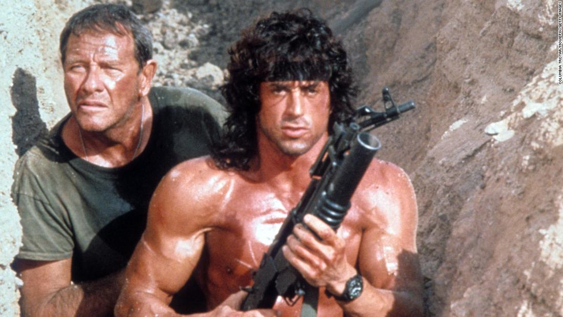 """""""Rambo III"""" : Sylvester Stallone reprises his role as Vietnam vet John Rambo in this action film that was part of a successful franchise. (Amazon Prime"""