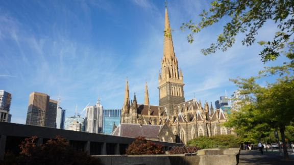 St Patrick's Cathedral in Melbourne where Pell sexually abused the two boys in the late 1990s.