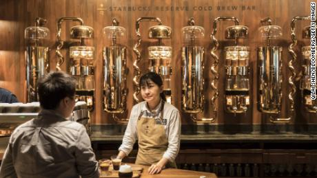 A shot from Shanghai Roastery. Qilai Shen / Bloomberg via Getty Images