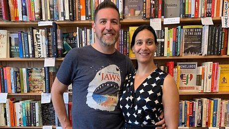 Husband and wife booksellers Seth Marko and Jennifer Powell thought they would have to shut down their store when Marko had to have emergency surgery.