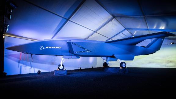 Boeing showed off a model of its 'Loyal Wingman' artificial intelligence drone at an airshow in Australia on Wednesday.