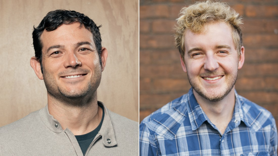 Tim Kendall (left), a former Facebook executive and now owner of Moment, with the app's creator Kevin Holesh.