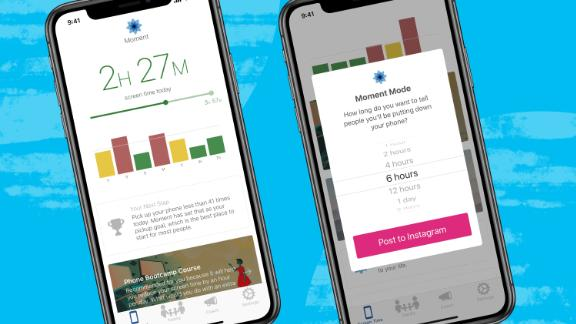 Moment tries to help users curb their screen addictions by tracking total screen time, setting personal goals and providing guided coaching.