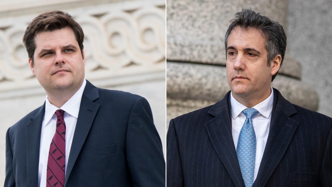 Florida Bar investigating Rep. Matt Gaetz for Cohen tweet - CNN thumbnail