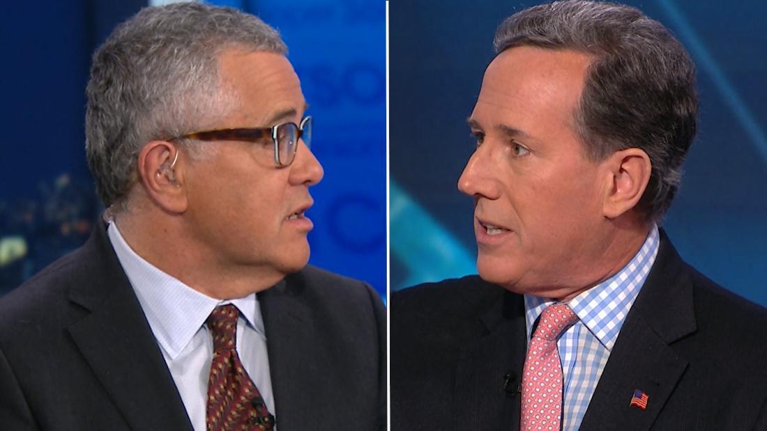 Santorum's Trump defense stuns Toobin