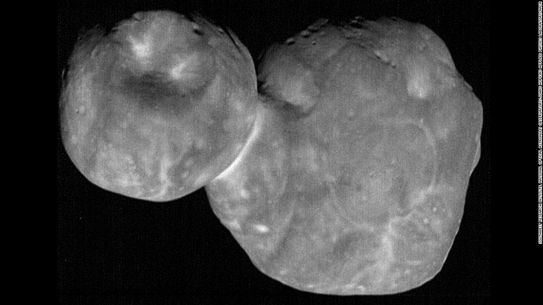 Another look at Ultima Thule reveals the pancake shape many associate it with.