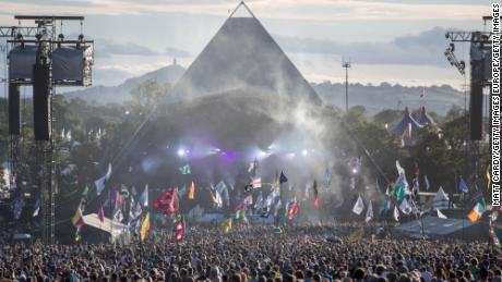 The Pyramid Stage at the 2017 Glastonbury Festival. Just one event has been held at the site since.