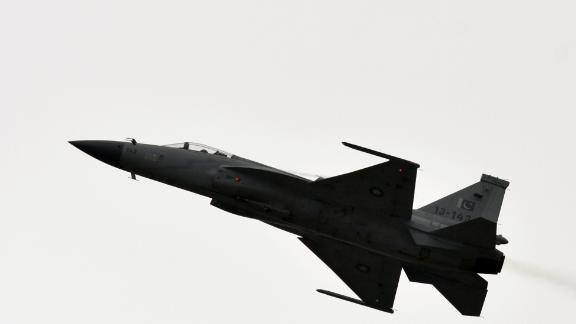 A Pakistan JF-17 performs at a Paris airshow in 2015.