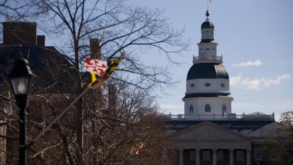 The Maryland State Capitol Building is seen in Annapolis 23 November 2007.