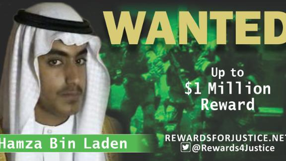 The State Department wants information on Hamza bin Laden.