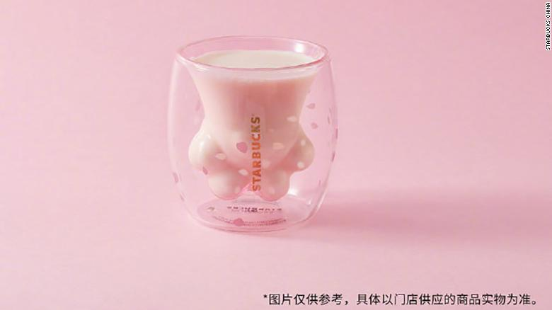 Starbucks sold the limited edition cat paw cups for about $30 each. Chinese customers couldn't get enough of them.