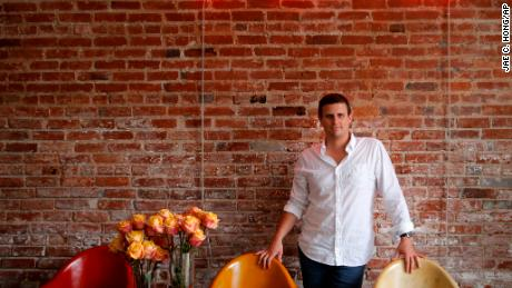 Dollar Shave Club CEO and co-founder Michael Dubin poses for photos at the company's headquarters in Venice, California.