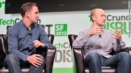 Lyft co-founders John Zimmer (left) and Logan Green