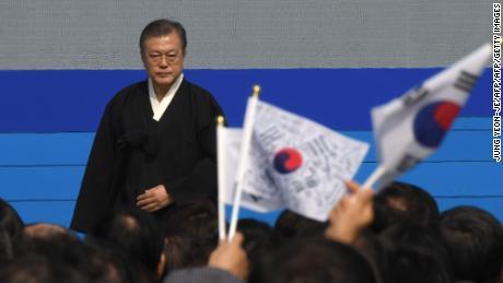 """""""Sporculardaki acımasız muamele ve istismar, eski zamanlardan herhangi bir kelime ile haklı çıkarılamayan miraslardır,"""" dedi Başkan Moon Jae-in."""