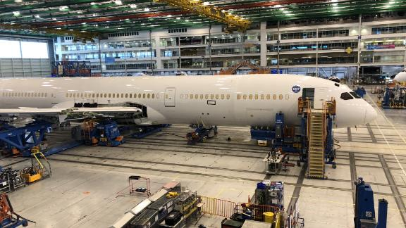 Planes are seen under construction at a Boeing assembly plant in North Charleston, South Carolina on March 25, 2018. The sparkling new Boeing 787s bound for China Southern Airlines and Air China are waiting to be delivered but the prospect of a trade war could make for a less rosy future. / AFP PHOTO / Luc OLINGA        (Photo credit should read LUC OLINGA/AFP/Getty Images)