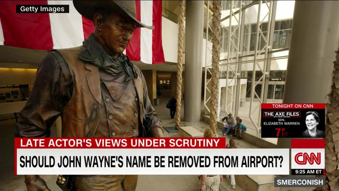 Should John Wayne's name be removed from airport?