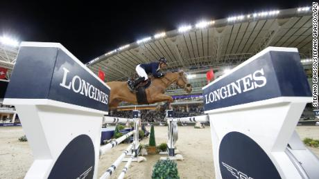 Julien Epaillard and Usual Suspect d'Auge race to victory in the jump-off.