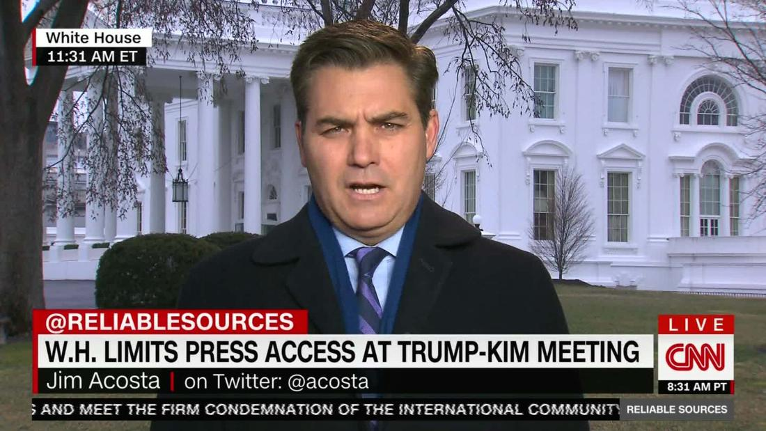 Acosta: White House leaves press 'out in the cold'