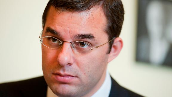UNITED STATES - OCTOBER 25:  Rep. Justin Amash, R-Mich., is interviewed by Congressional Quarterly in his Cannon Building office.  (Photo By Tom Williams/Roll Call) (CQ Roll Call via AP Images)