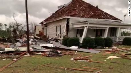 The EF-4 tornado brought 170 mph and then left a mile wide between the storms.
