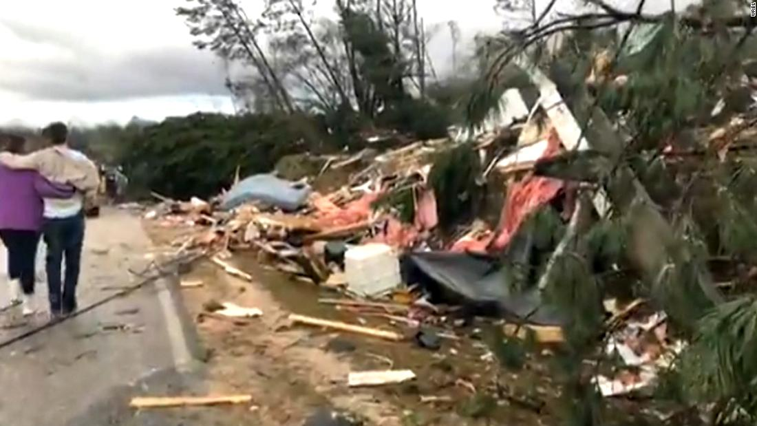 Deadly tornadoes touch down in Alabama and Georgia