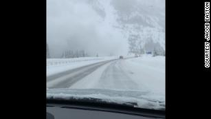 One driver captured this photo of an avalanche on Colorado's I-70.