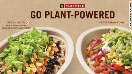 Chipotle's plant-driven lifestyle dishes