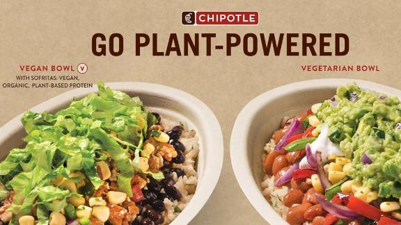 Chipotle's plant-powered lifestyle bowls