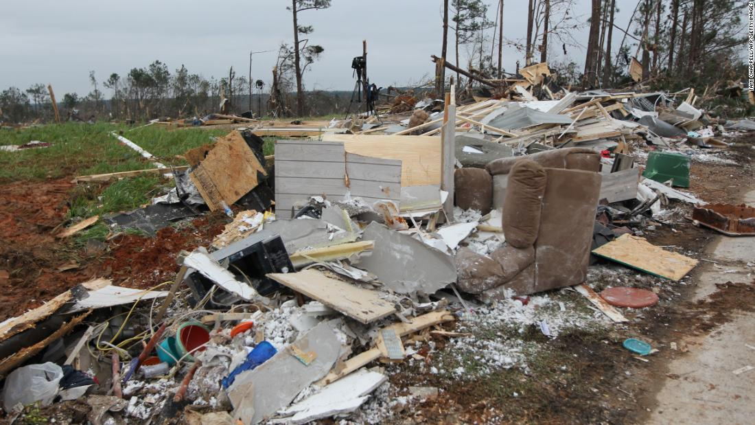The National Weather Service recorded EF-3 damage in southern Lee County. That classification means the damage was severe, with winds of 136 to 165 mph.