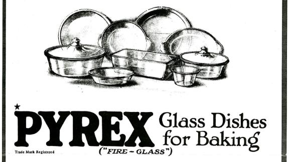 The first Corning advertisement for Pyrex featured in the October 1915 issue of Good Housekeeping Magazine.