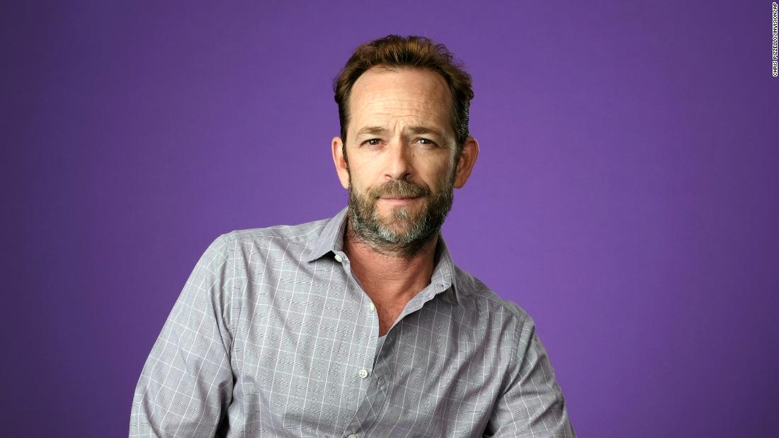 Luke Perry poses for a portrait in August 2018. He died Monday, March 4, at the age of 52.