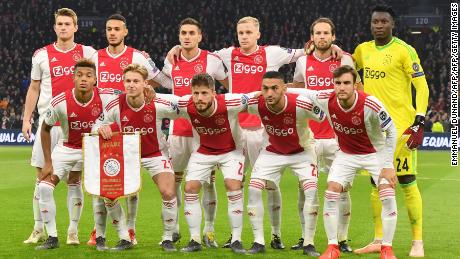Ajax is competing in this season's European Champions League.