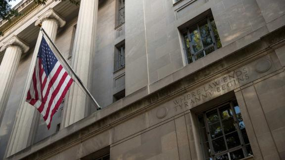 WASHINGTON, DC - JULY 25:  An exterior view of the U.S. Department of Justice headquarters, July 25, 2017 in Washington, DC.