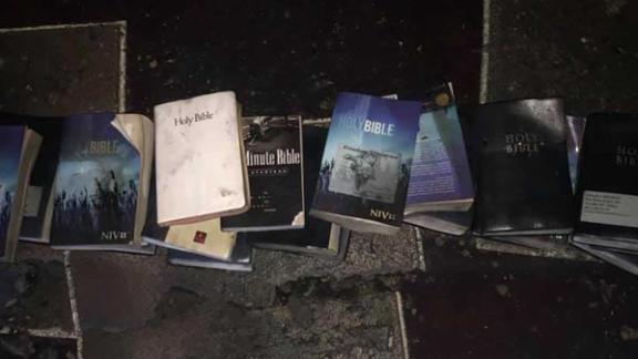 Bibles were left untouched by a fire in West Virgina.