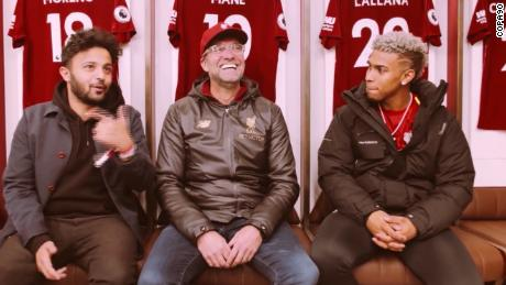 Jurgen Klopp's Anfield tour for MLB player