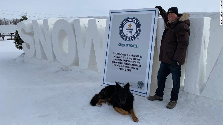 加拿大这个巨大的雪迷宫创造了世界纪录