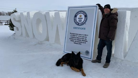 Clint Masse with proof of his Guinness World Record.