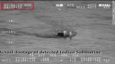 A screengrab from a Pakistan Navy video. CNN could not verify its authenticity.