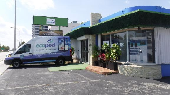 Pino opened the first Ecopod store in Miami in January.