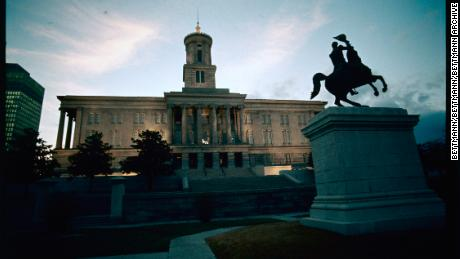 Exterior view of the Tennessee State Capitol building in Nashville