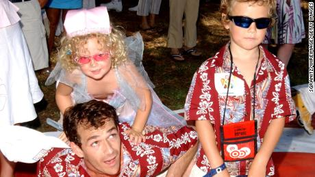 Luke Perry, daughter Sophie and son Jack in 2004.