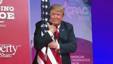 Image result for trump embracing flag