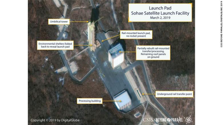 Coreia do Norte reconstrói estação para lançamento de mísseis