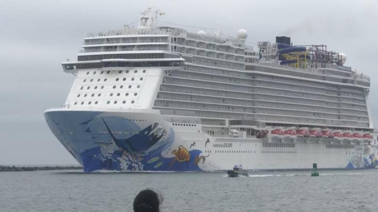 Image result for Several passengers hurt as cruise ship tilts when hit by sudden 115 mph gust