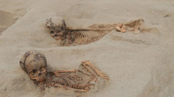 Remains of children found at the site.