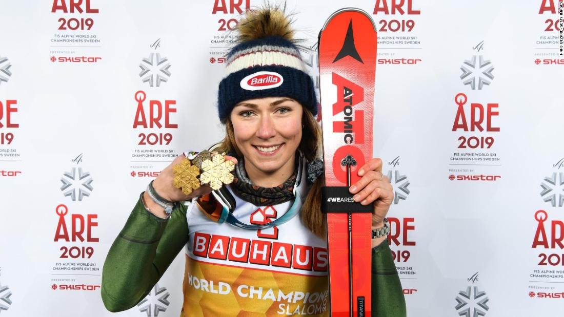And she clinched a remarkable fourth straight slalom world title -- a streak stretching back to 2013 -- to go with a bronze in the giant slalom in Sweden.